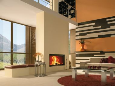 Spartherm Linear Front 120x52 Inbouw Hout